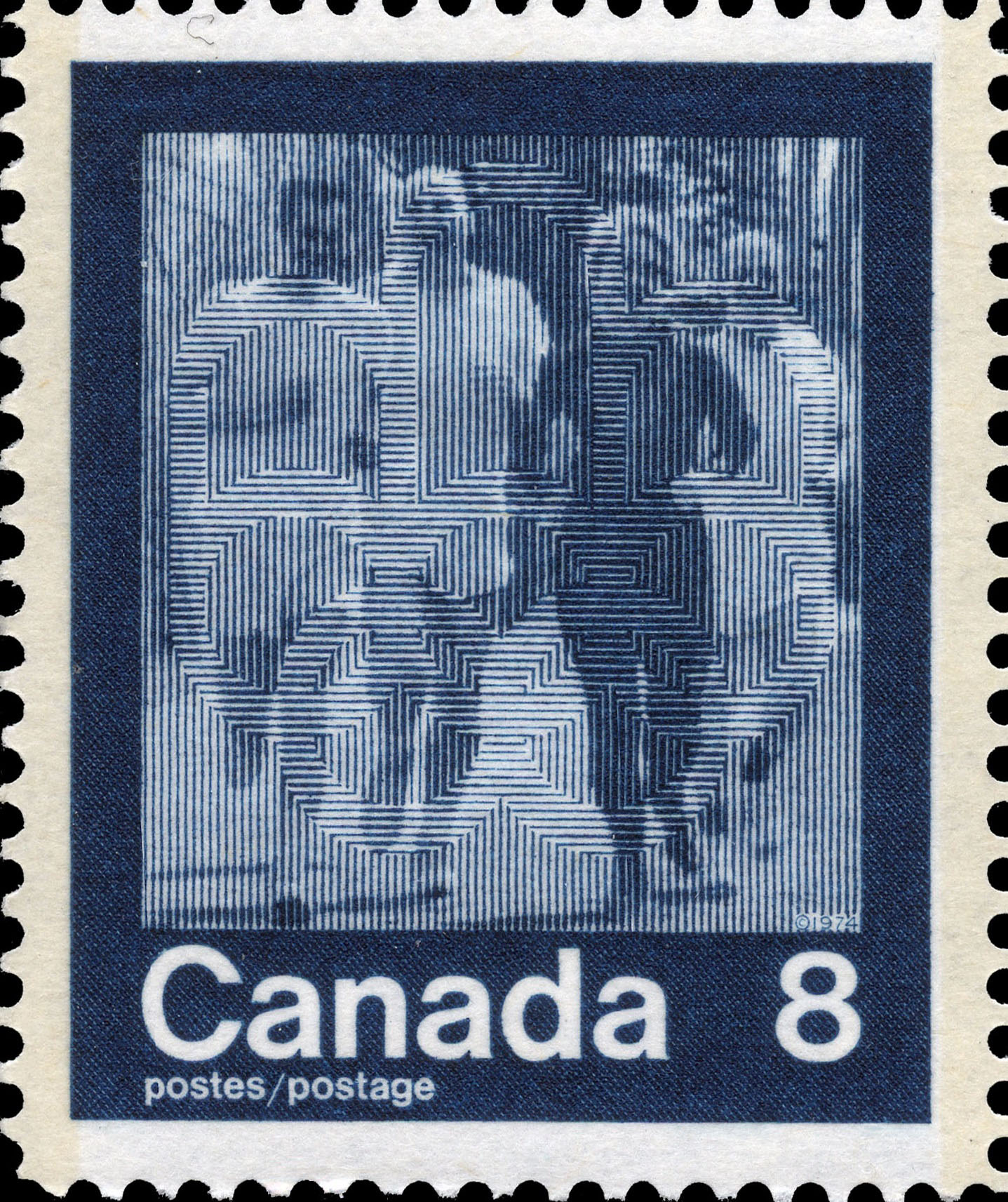 Jogging Canada Postage Stamp | 1976 Olympic Games, Keeping Fit