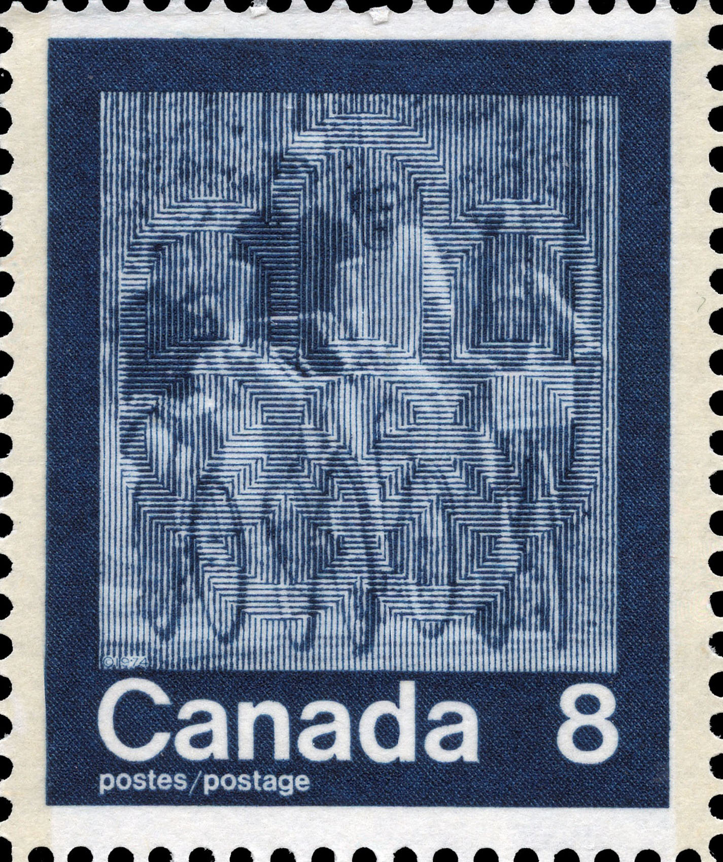 Cycling Canada Postage Stamp