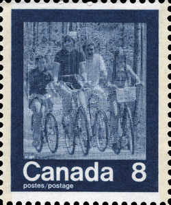 Cycling Canada Postage Stamp | 1976 Olympic Games, Keeping Fit