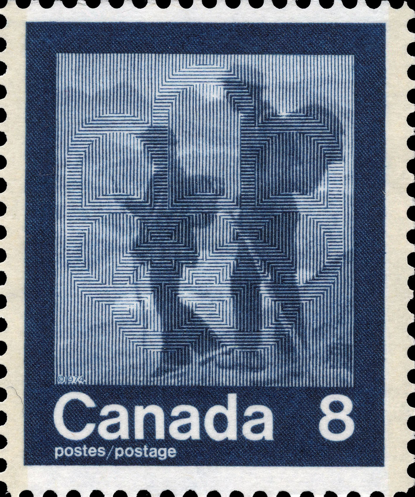 Hiking Canada Postage Stamp