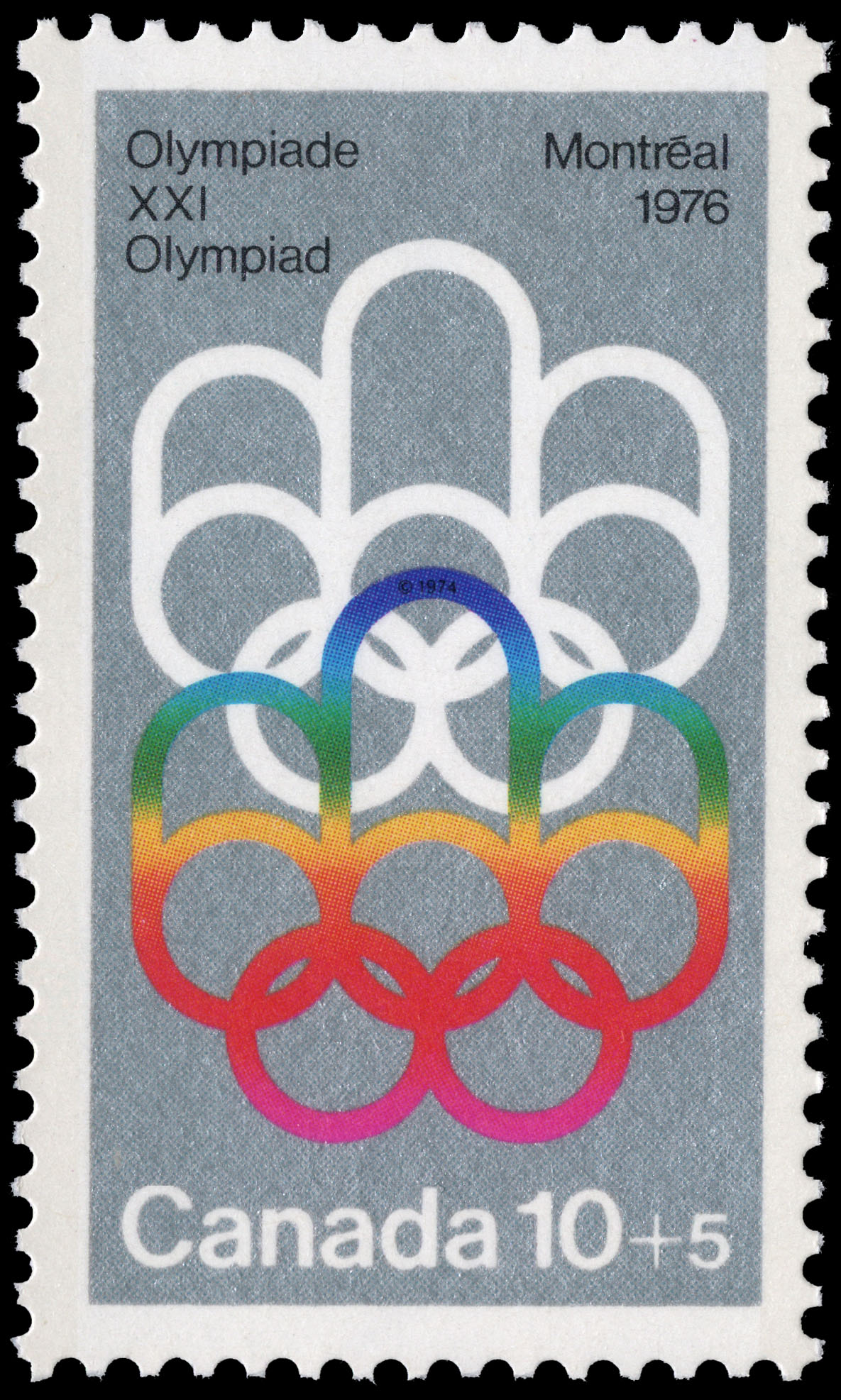 Symbol of the Montreal Games Canada Postage Stamp