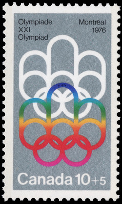 Symbol of the Montreal Games Canada Postage Stamp | 1976 Olympic Games