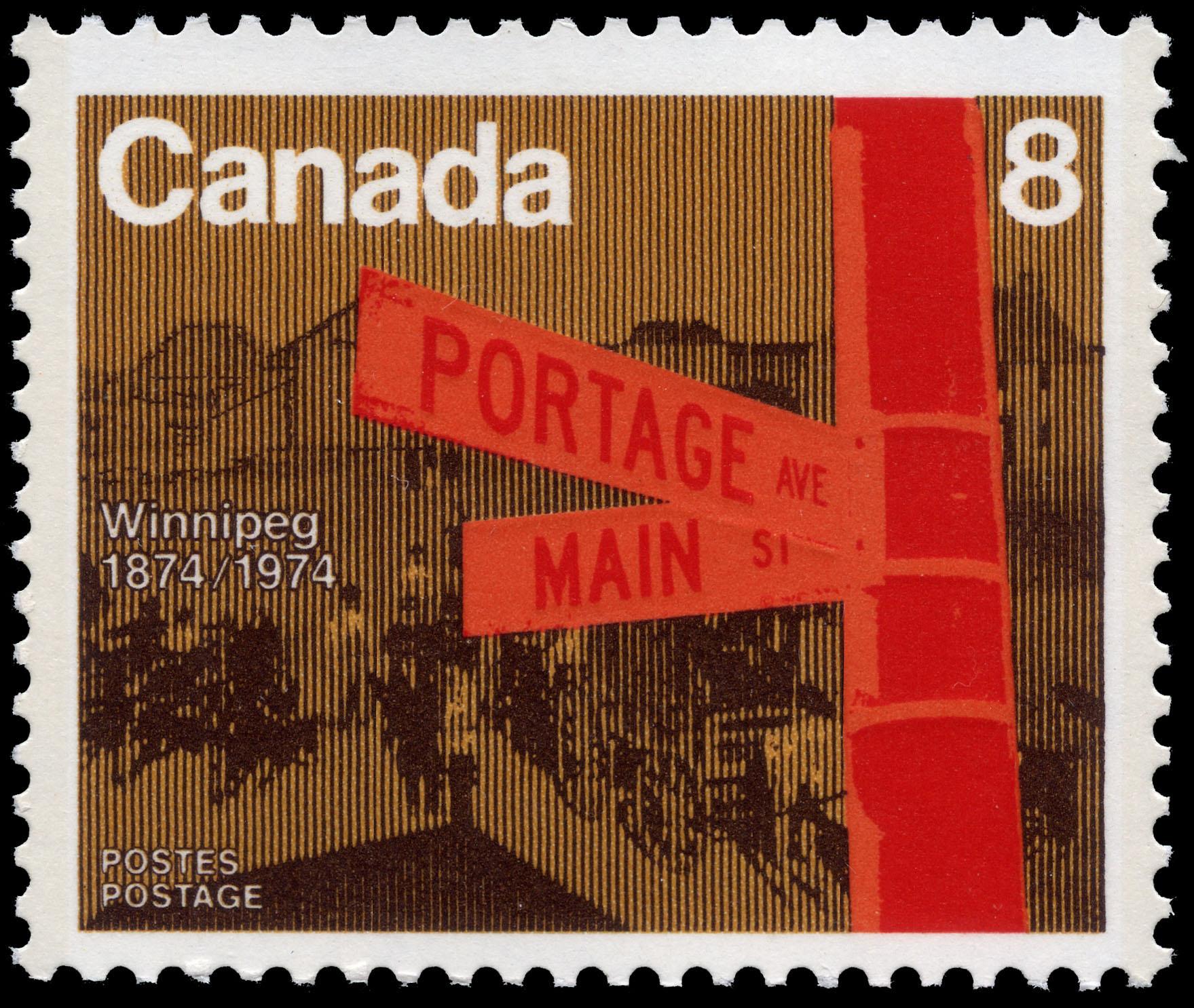 Winnipeg, 1874-1974 Canada Postage Stamp