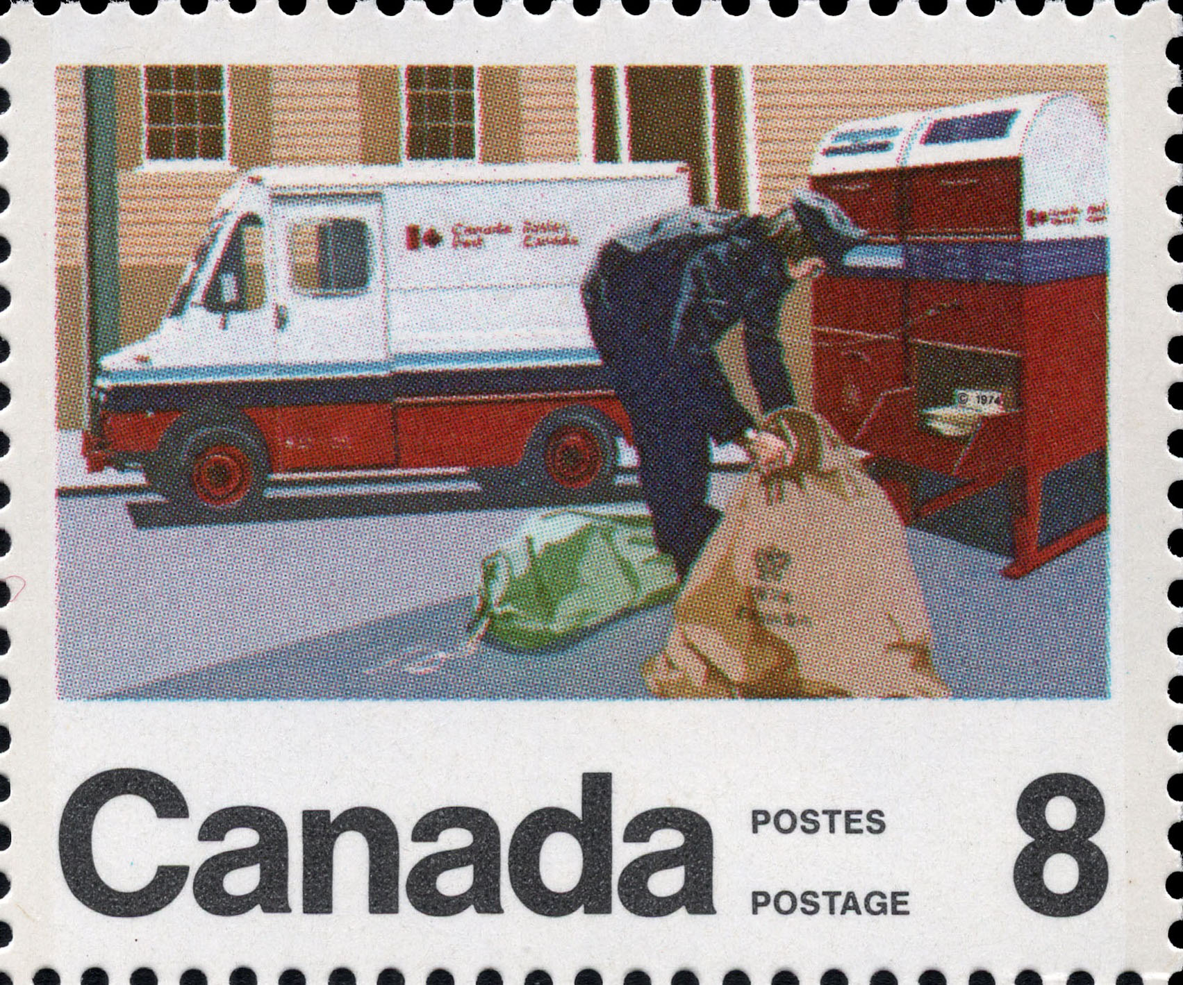 Mail Services Courier Canada Postage Stamp