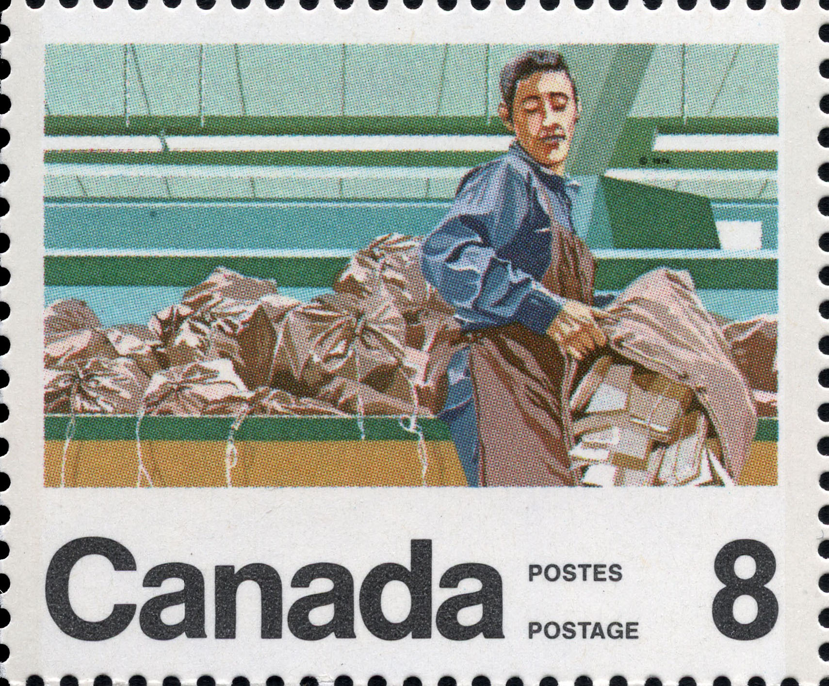 Mail Handler Canada Postage Stamp | Centenary of the Letter Carrier Delivery Service