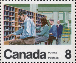 Postal Clerk Canada Postage Stamp | Centenary of the Letter Carrier Delivery Service
