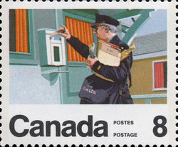 Letter Carrier Canada Postage Stamp | Centenary of the Letter Carrier Delivery Service