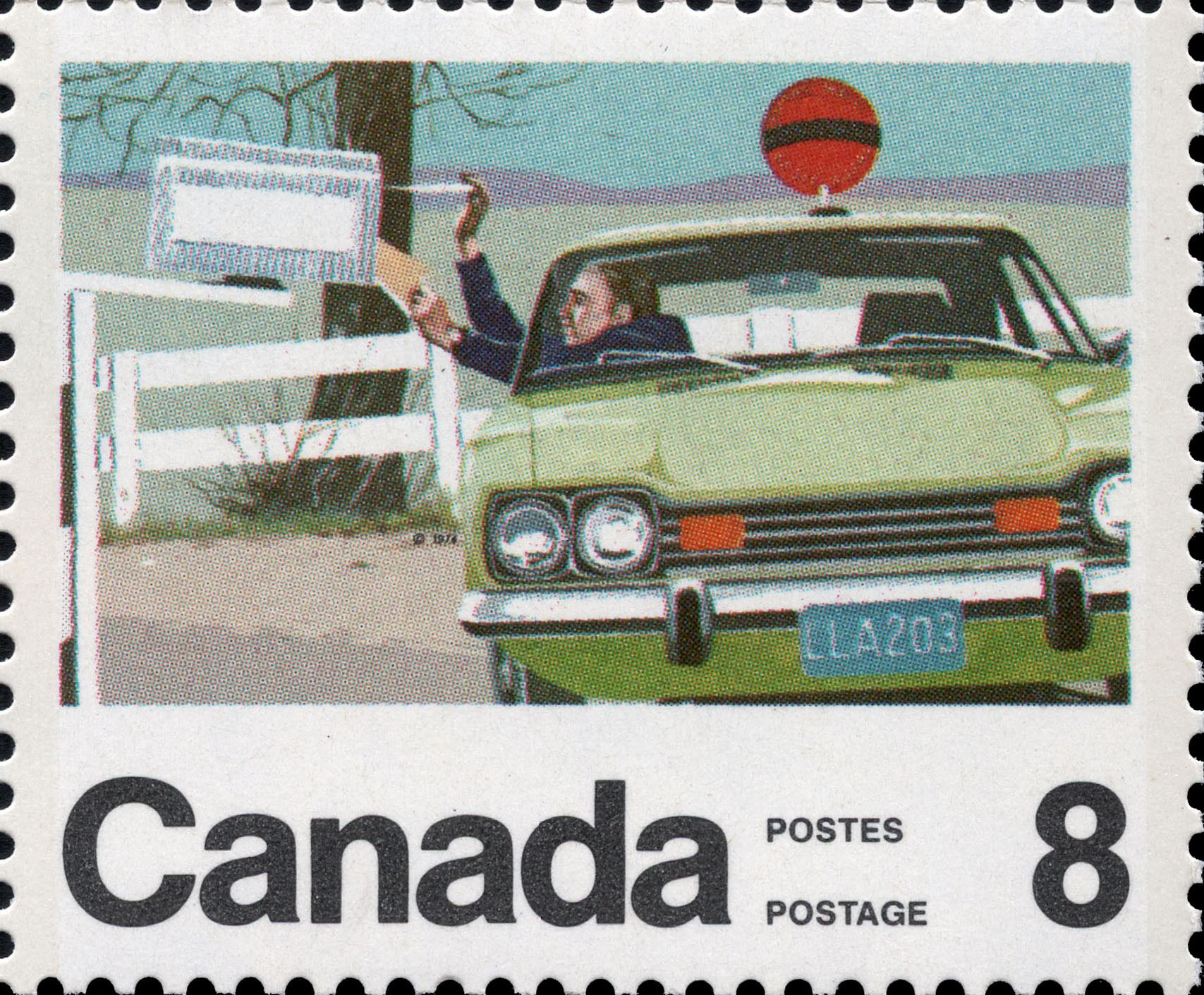 Rural Mail Courier Canada Postage Stamp | Centenary of the Letter Carrier Delivery Service