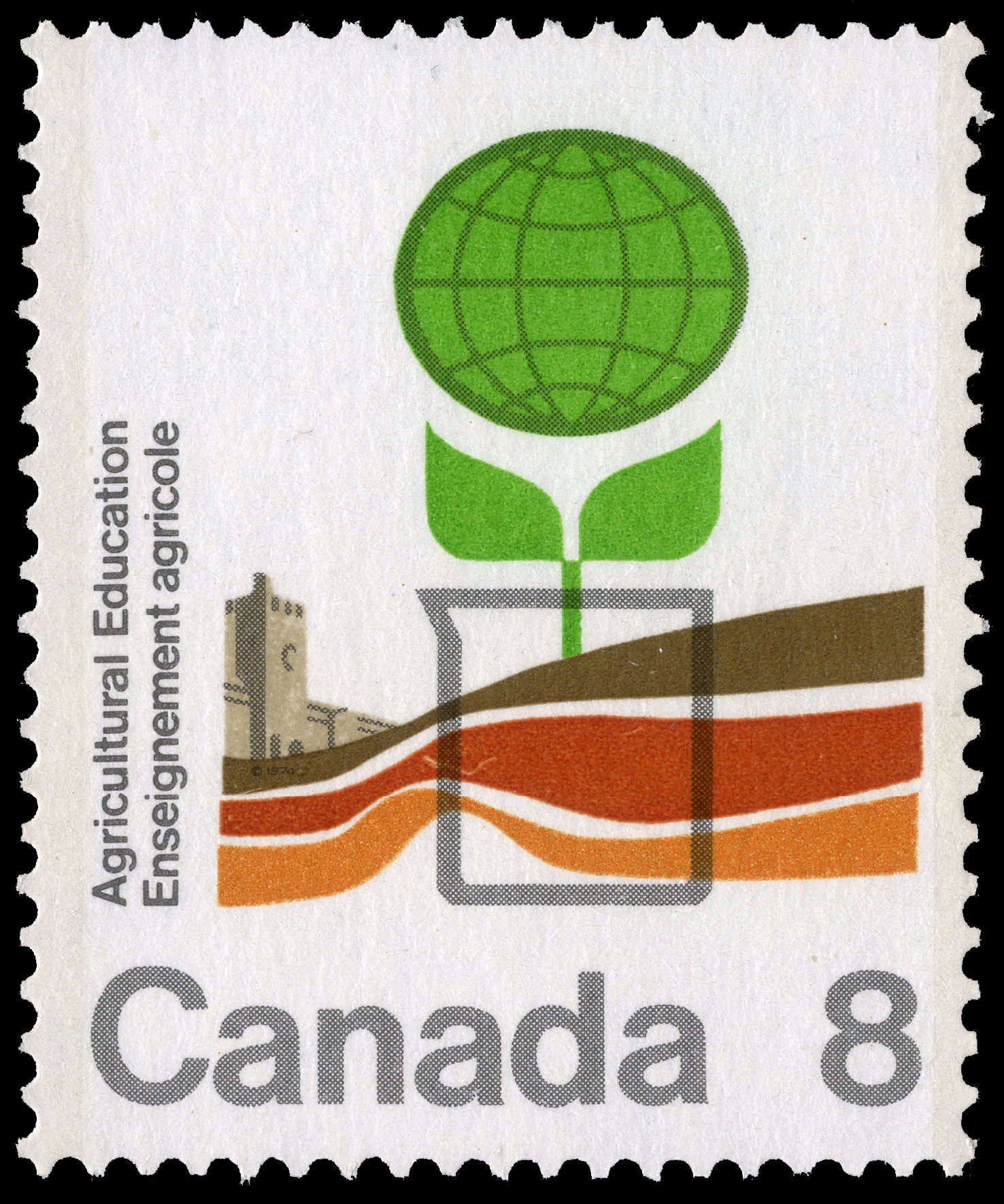 Agricultural Education Canada Postage Stamp