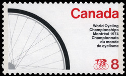 World Cycling Championships, Montreal, 1974 Canada Postage Stamp