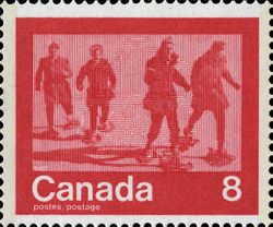 Snowshoeing Canada Postage Stamp | 1976 Olympic Games, Keeping Fit
