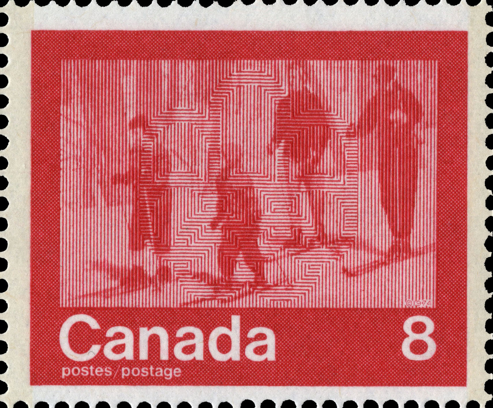 Skiing Canada Postage Stamp