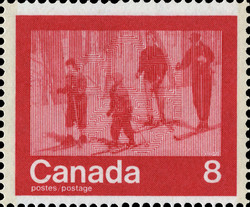 Skiing Canada Postage Stamp | 1976 Olympic Games, Keeping Fit
