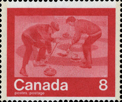 Curling Canada Postage Stamp | 1976 Olympic Games, Keeping Fit