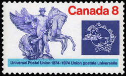 Universal Postal Union, 1874-1974 Canada Postage Stamp