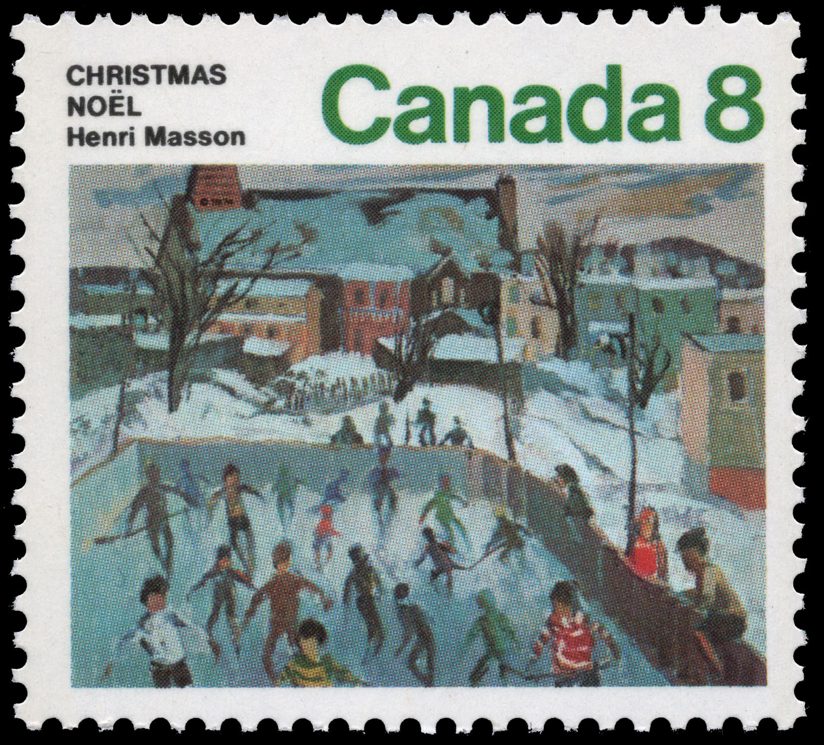 Skaters in Hull Canada Postage Stamp