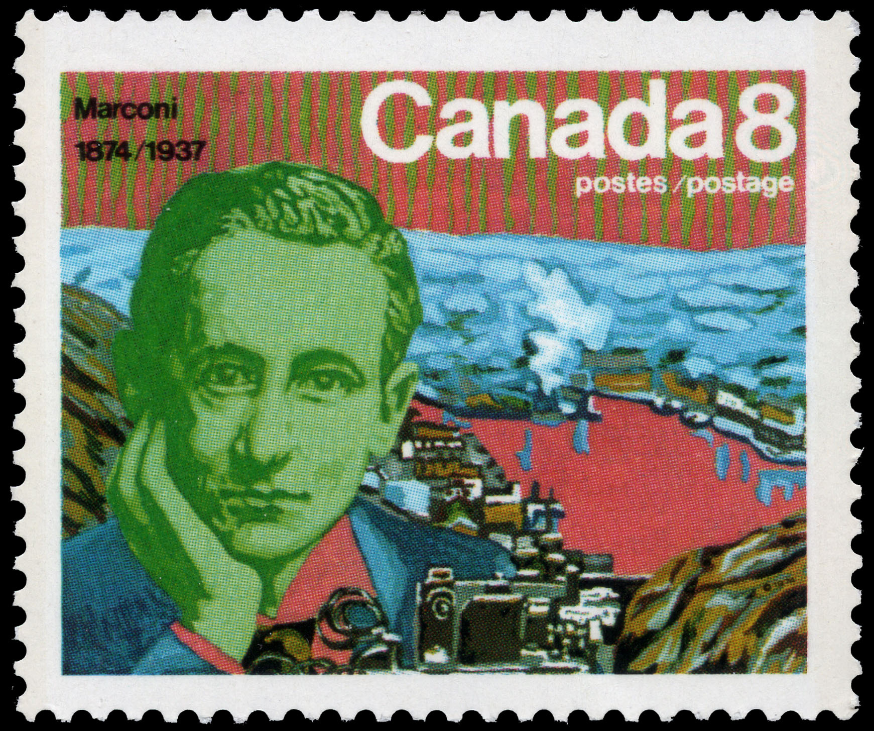 Marconi, 1874-1937 Canada Postage Stamp