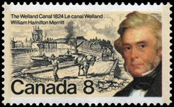 William Hamilton Merritt, The Welland Canal, 1824 Canada Postage Stamp