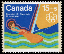Sailing Canada Postage Stamp | 1976 Olympic Games, Water Sports