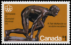 The Sprinter Canada Postage Stamp | 1976 Olympic Games, Sculptures