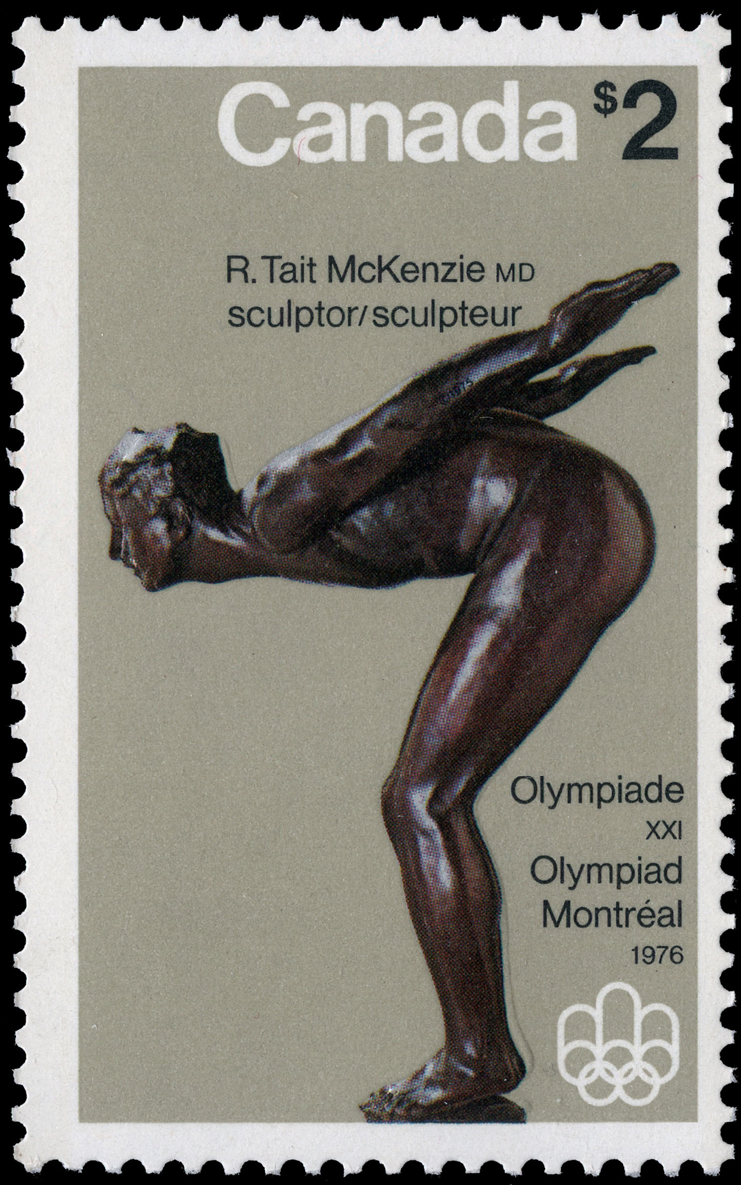 The Plunger Canada Postage Stamp | 1976 Olympic Games, Sculptures