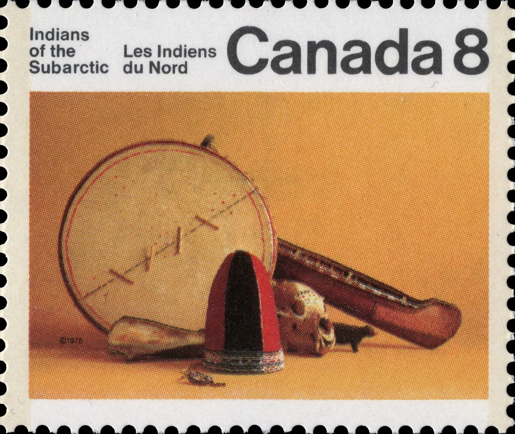 Artifacts Canada Postage Stamp | Indians of Canada, Indians of the Subarctic