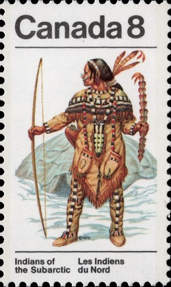Ceremonial Dress Canada Postage Stamp | Indians of Canada, Indians of the Subarctic