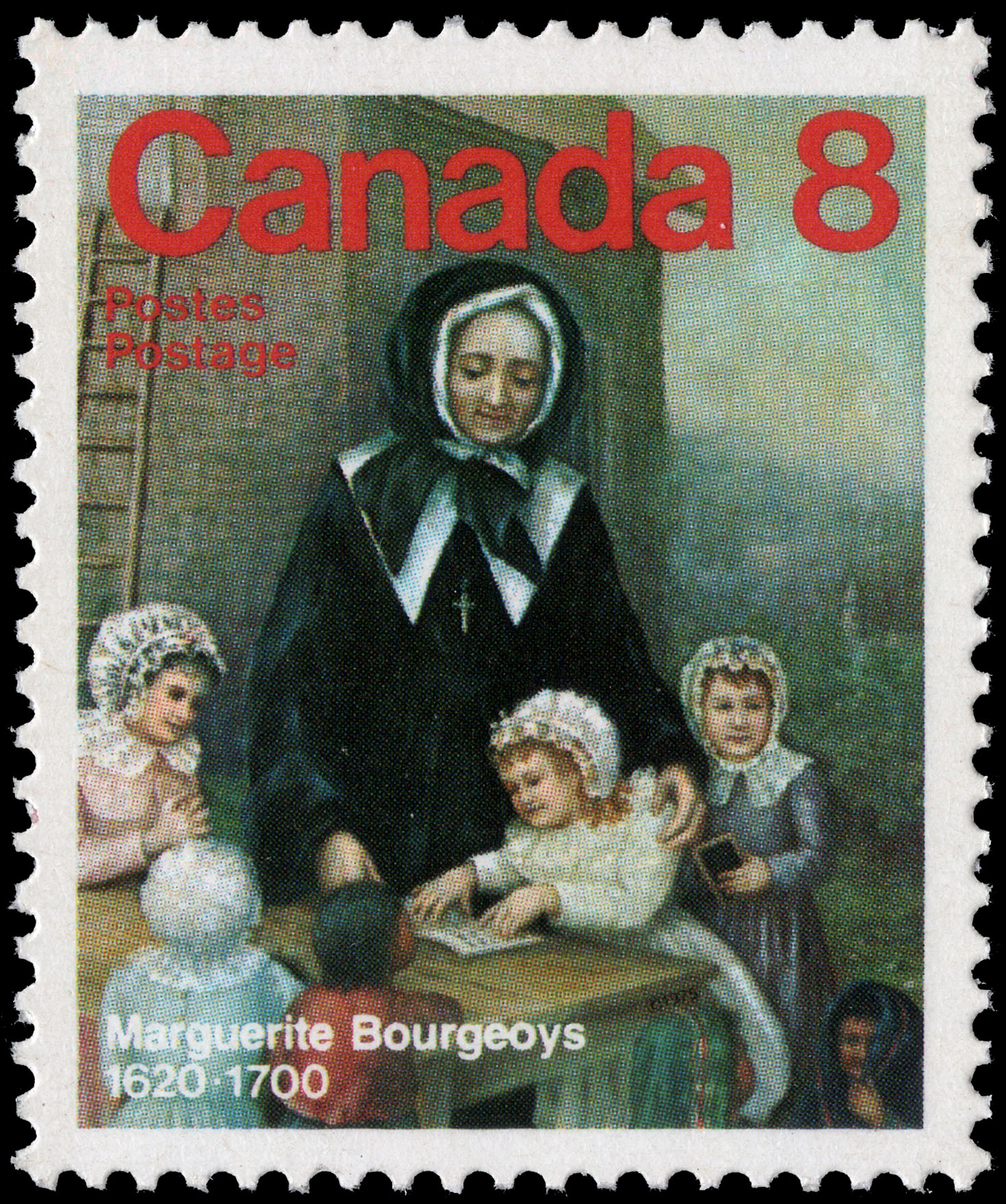 Marguerite Bourgeoys, 1620-1700 Canada Postage Stamp