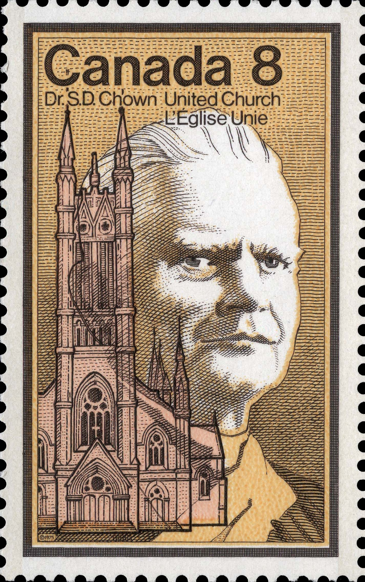Dr. S.D. Chown, United Church Canada Postage Stamp