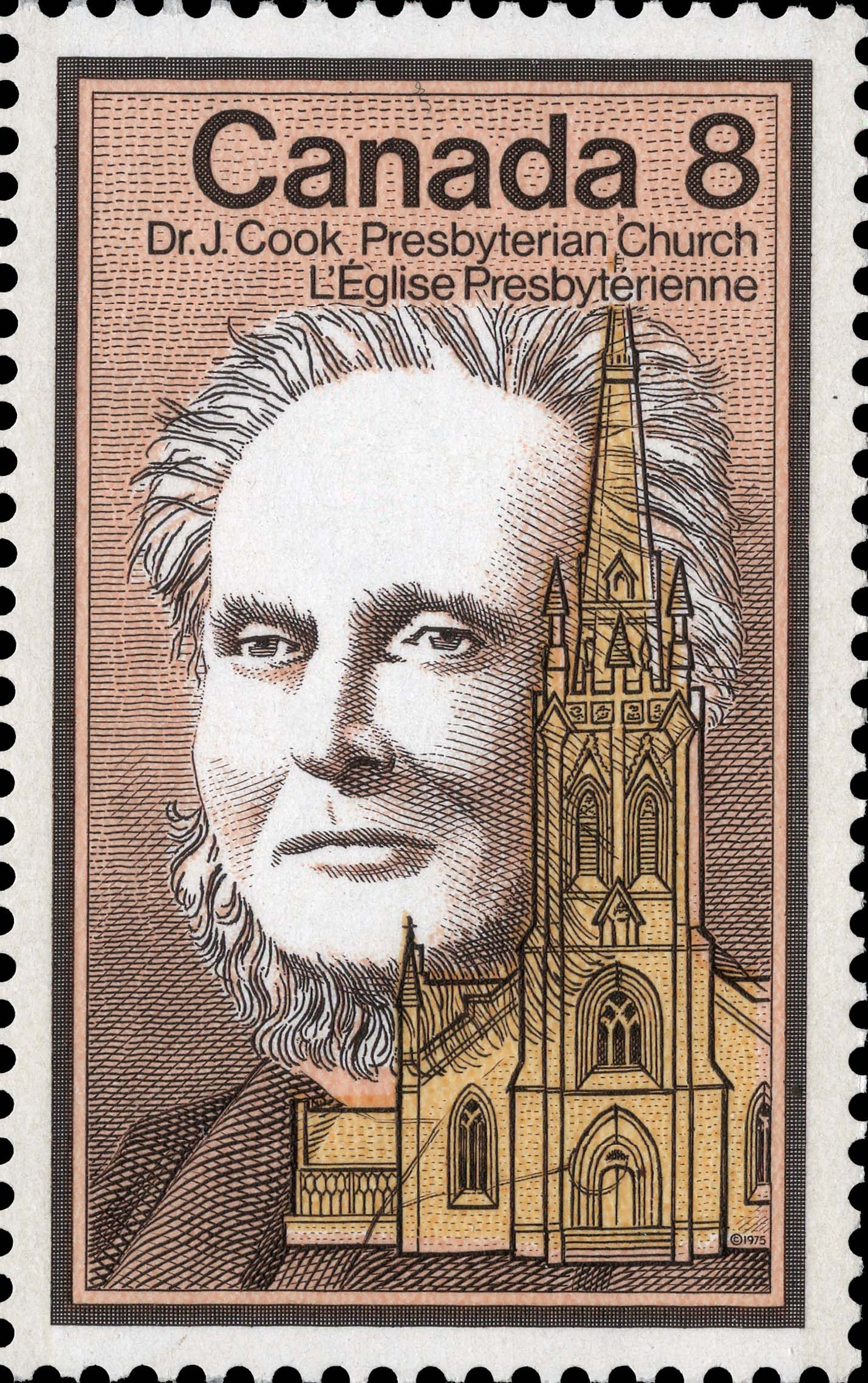 Dr. J. Cook, Presbyterian Church Canada Postage Stamp