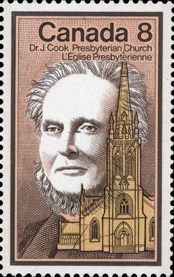 Dr. J. Cook, Presbyterian Church Canada Postage Stamp