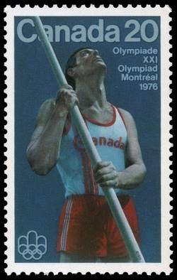 Pole Vaulter Canada Postage Stamp | 1976 Olympic Games, Track & Field Sports