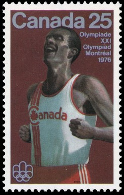 Marathon Runner Canada Postage Stamp | 1976 Olympic Games, Track & Field Sports