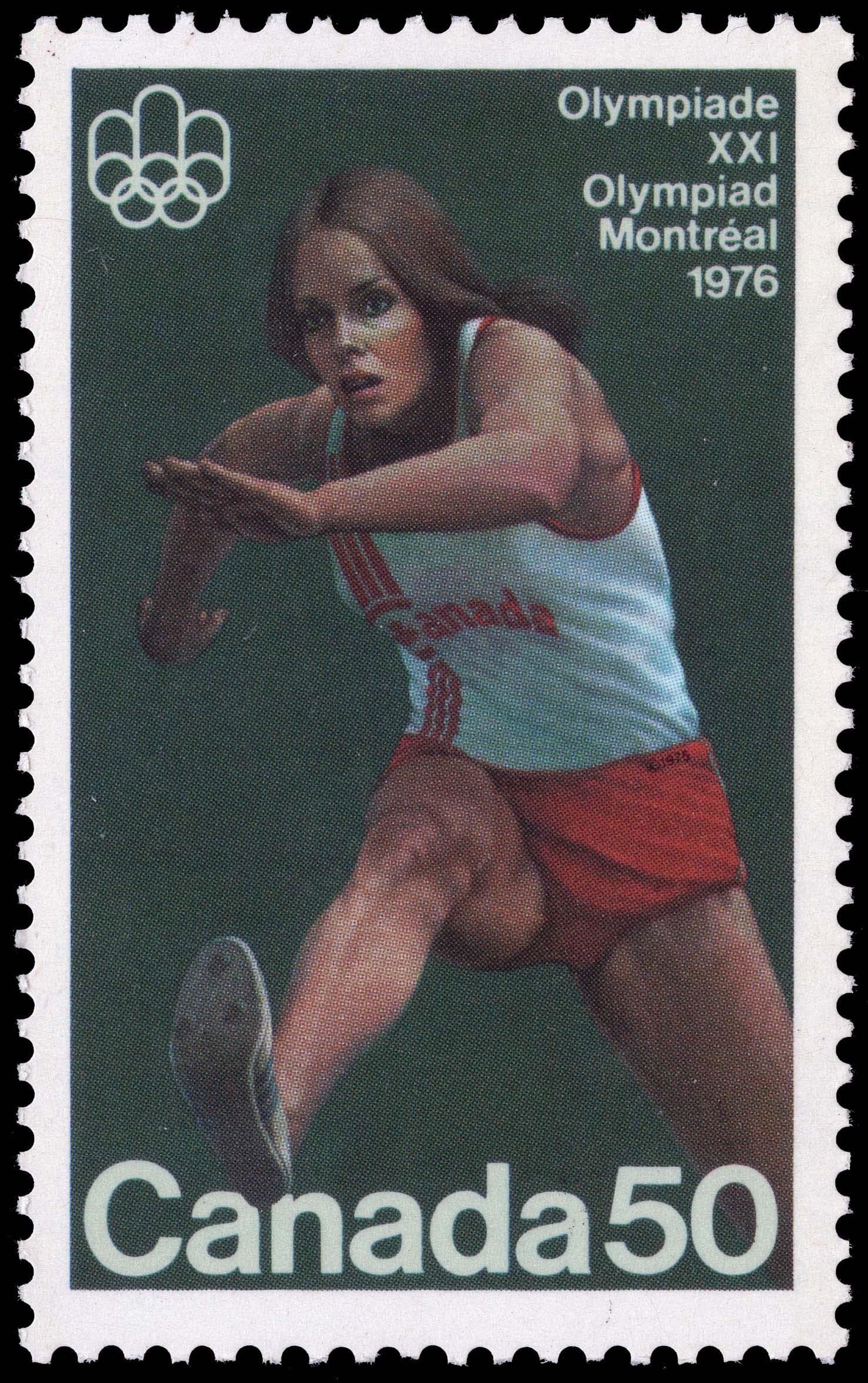 Hurdler Canada Postage Stamp