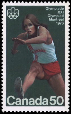 Hurdler Canada Postage Stamp | 1976 Olympic Games, Track & Field Sports