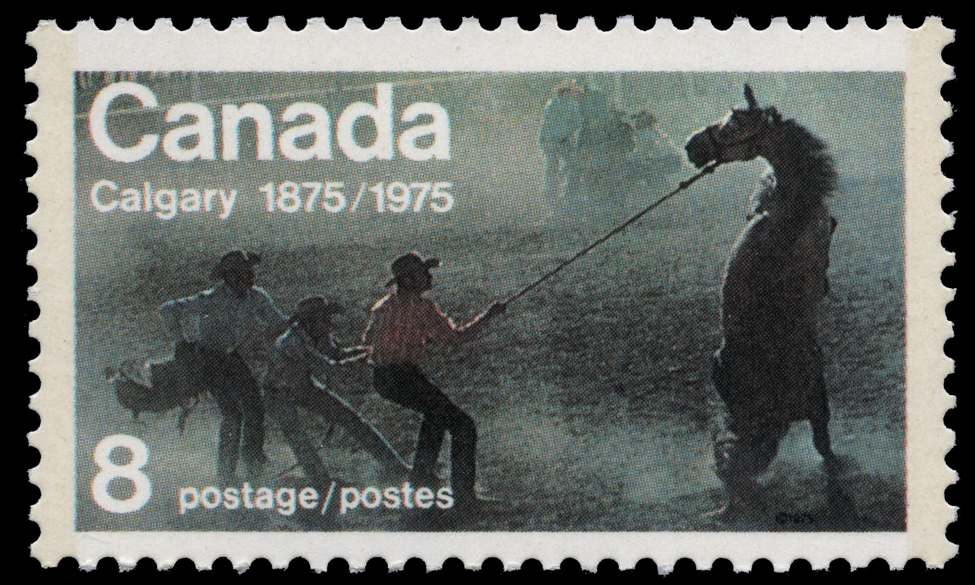 Calgary, 1875-1975 Canada Postage Stamp