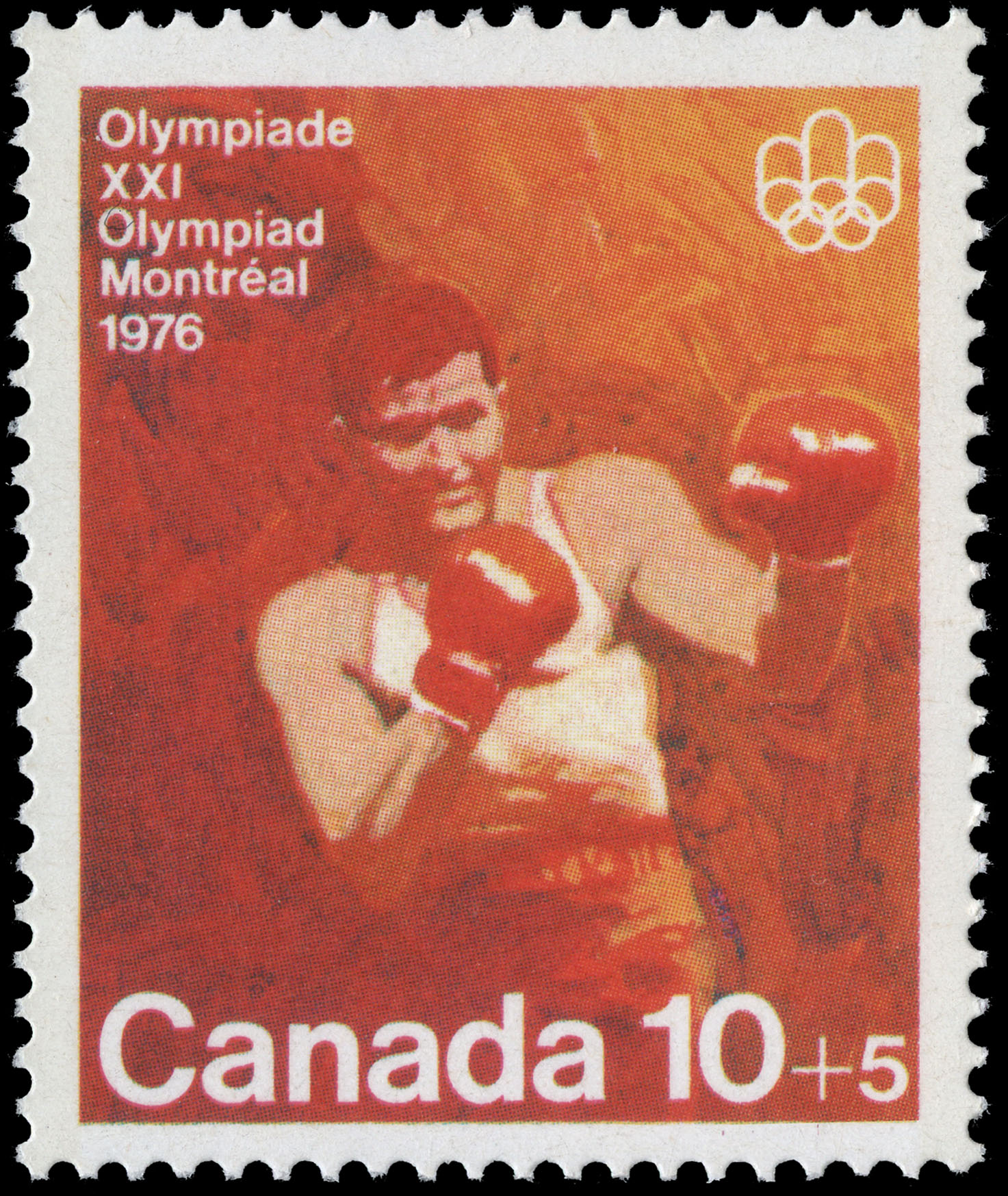 Boxing Canada Postage Stamp | 1976 Olympic Games, Combat Sports