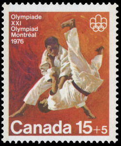 Judo Canada Postage Stamp | 1976 Olympic Games, Combat Sports