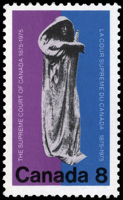 The Supreme Court of Canada, 1875-1975 Canada Postage Stamp
