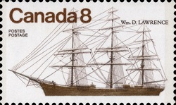 Wm. D. Lawrence Canada Postage Stamp | Ships of Canada, Coastal Ships