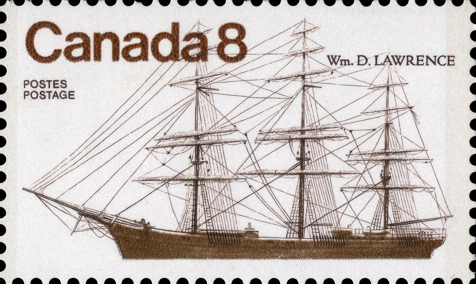 Wm. D. Lawrence Canada Postage Stamp