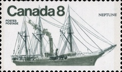 Neptune Canada Postage Stamp | Ships of Canada, Coastal Ships
