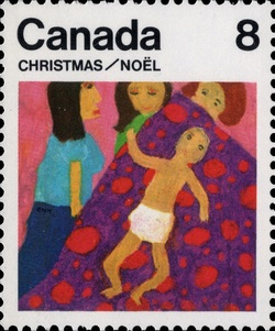 Child Canada Postage Stamp | Christmas