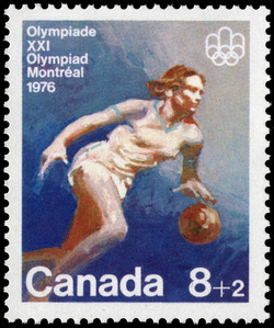 Basketball Canada Postage Stamp | 1976 Olympic Games, Team Sports and Gymnastics