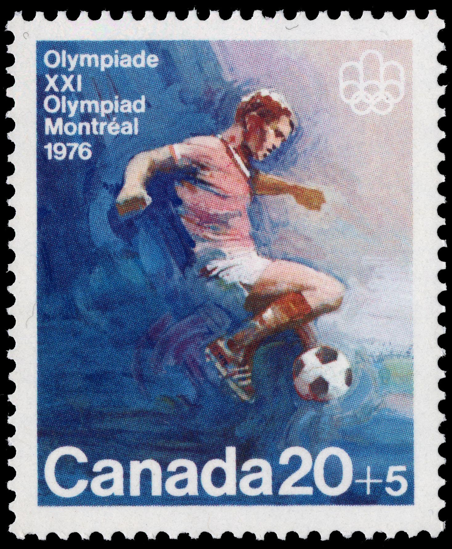 Soccer Canada Postage Stamp