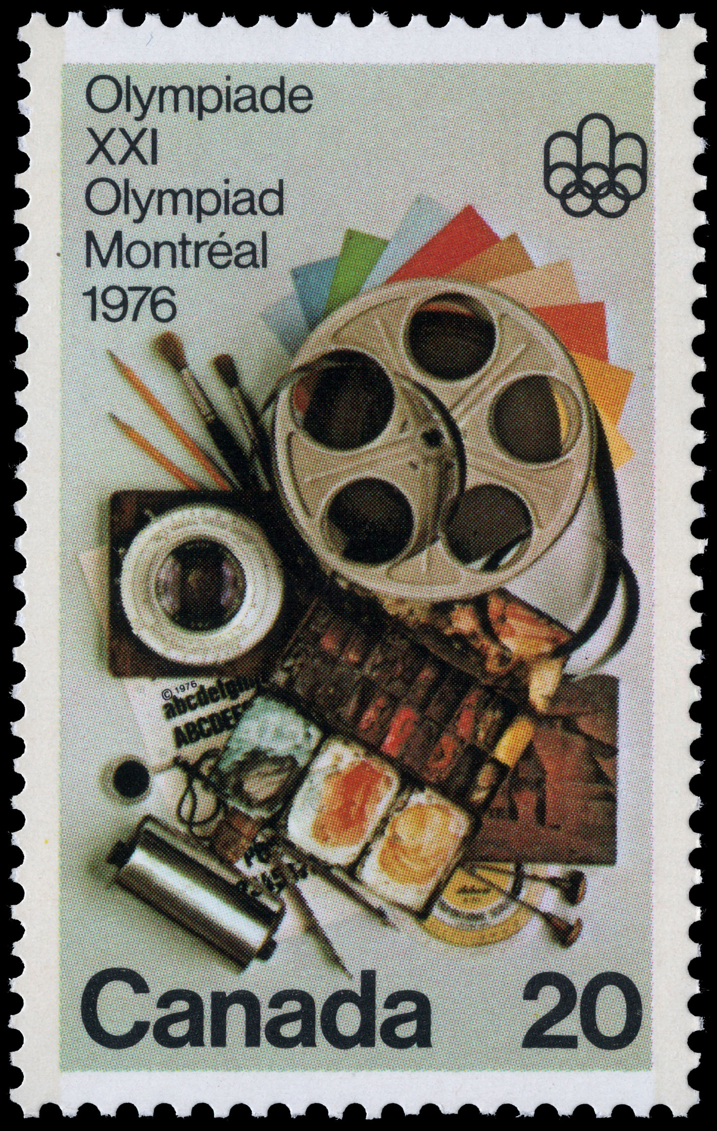 Communications Arts Canada Postage Stamp | 1976 Olympic Games, Arts & Culture Programme