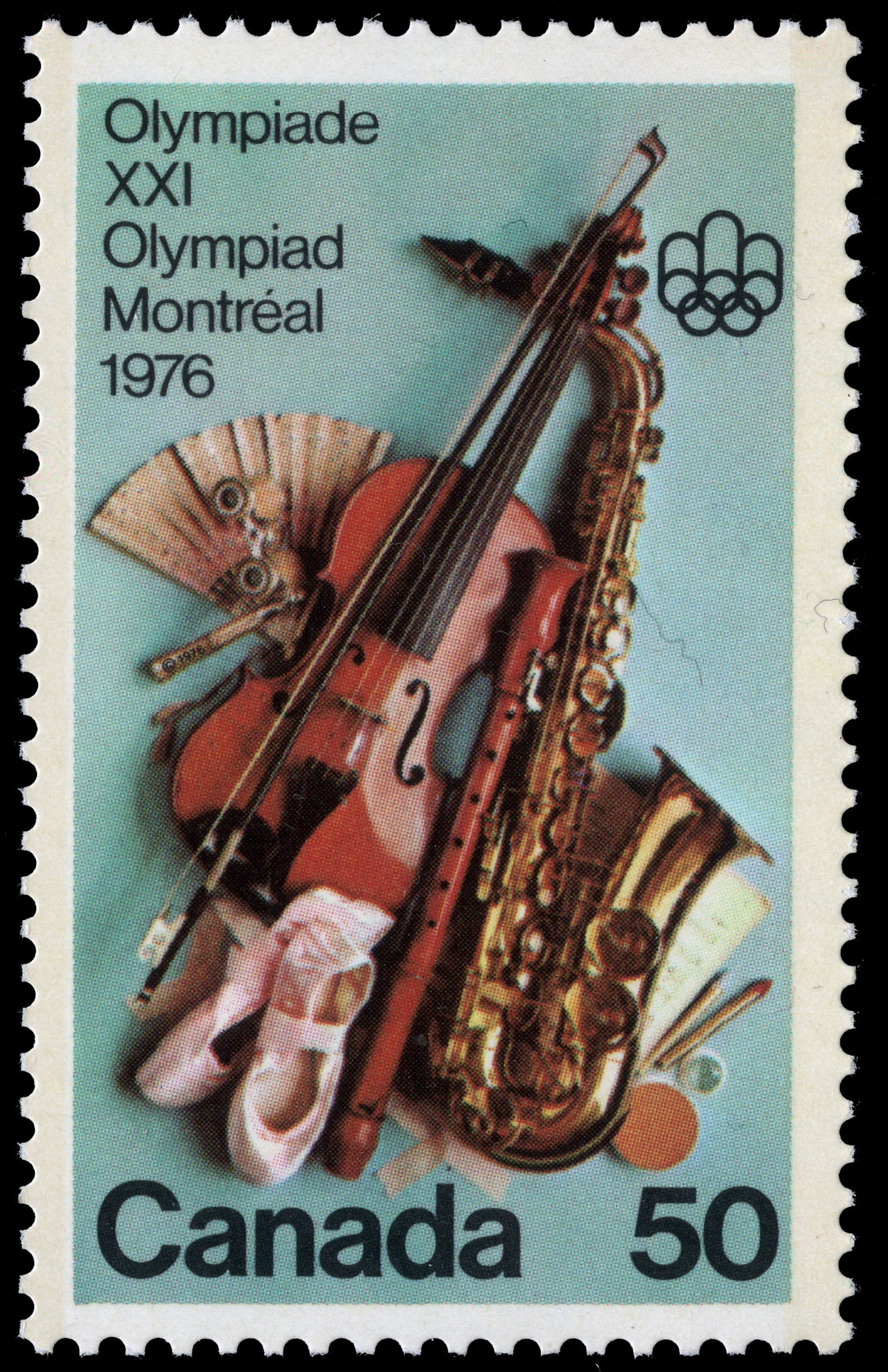 Performing Arts Canada Postage Stamp | 1976 Olympic Games, Arts & Culture Programme