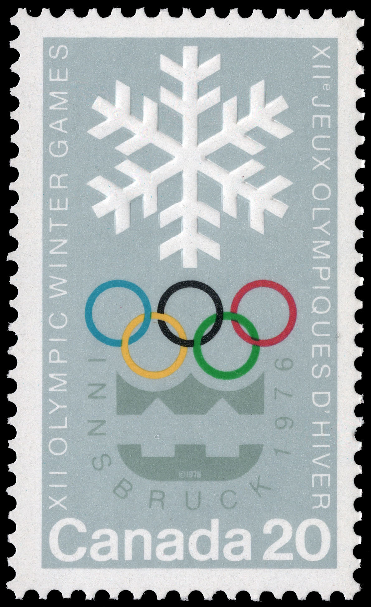 XII Olympic Winter Games, Innsbruck, 1976 Canada Postage Stamp
