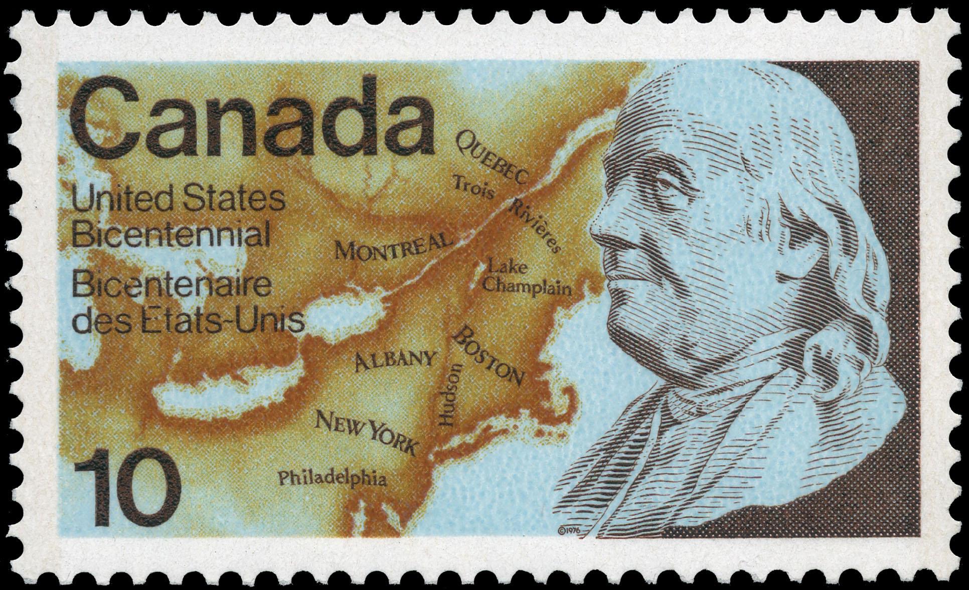United States Bicentennial, Benjamin Franklin Canada Postage Stamp