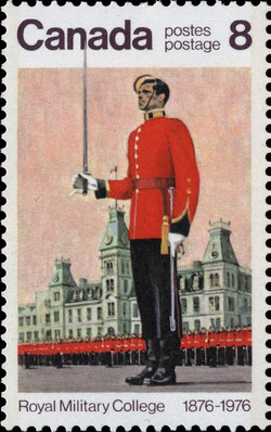 Wing Parade Canada Postage Stamp | Royal Military College, 1876-1976
